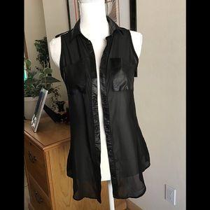 Sexy Imitation leather Blouse .